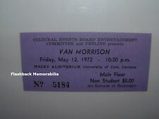 VAN MORRISON 1972 Unused MINT Concert Ticket UC DENVER Macky Auditorium THEM