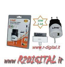 ALIMENTATORE USB 10 Watt CARICABATTERIE DA RETE IPAD IPHONE IPOD ADATTATORE