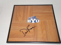 DAVE ROSE SIGNED FRAMED 12X12 FLOORBOARD BYU COUGARS BRIGHAM YOUNG
