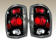 1998-2000 Ford Ranger Tail Lights Black Lamps 1999 00