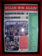 Wigan Warriors 12 Warrington Lobos 6 - 2016 gran final-enmarcado impresión