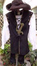 New Good Quality Secret's 5 Pc Boy's Pirate Costume w/Hat, Belt, & Sword Md 6/8