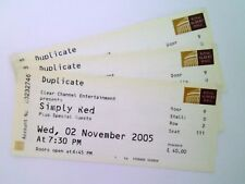 RARE Simply Red Memorabilia - Unused Tickets / Stubs Royal Albert Hall 02/11/05