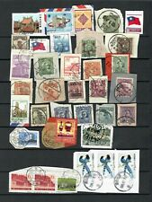 CHINA ASIA  COLLECTION POSTAL USED ON PAPER  STAMPS   LOT (chine 338)