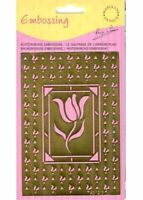 Background*Stencil * Emboss * Flower * Tulip * Oblong * AE1217*Marianne Design