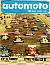 AUTO MOTO JOURNAL 26 HONDA SL 125 RENAULT 12 Gordini Grand Prix F1 France 1971