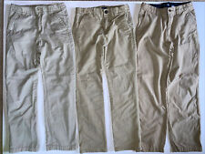 Lot of 3 Khaki School Uniform Pants Size 12 Youth Boys Gap Crazy 8 Chino