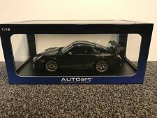 Porsche 911 (997) GT3 RS 3.8 Grey Black w White Gold Stripes 1:18 AUTOart