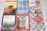 Lot 6 How To Books Quilting That Patchwork Place Patterns Quilt Making Guide