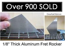 """USA MADE GeetarGizmos FRET ROCKER 1/8"""" Aluminum Guitar Fret Level Luthier Tool"""
