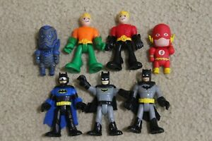 dc comics imaginext universe batman aquaman + bonus flash action figure lot