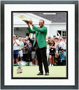 "Tiger Woods 2019 Masters Champion Green Jacket Photo (12.5"" x 15.5"") Framed"