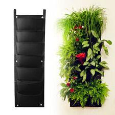 2x Outdoor 7 Pocket Indoor Balcony Herb Vertical Garden Wall Hanging Planter Bag