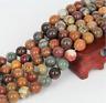 "Natural Gemstone Picasso Jasper Stone Jewelry Making Loose Beads Strand 15"""