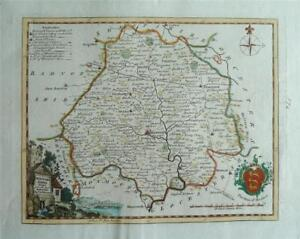 HEREFORDSHIRE - Fine Original Hand-Coloured Antique Map by Thomas Kitchin, c1780