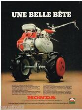 PUBLICITE ADVERTISING 095  1977  HONDA   motoculteur F 400 F2