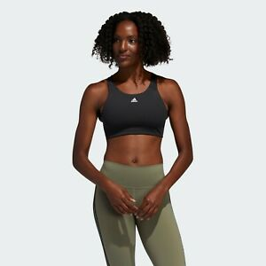 adidas Women's Ultimate Alpha Training Bra FL2383 Black $50 MSRP