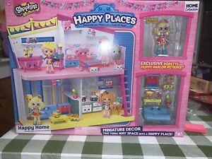 Shopkins HappyPlaces HappyHome w/Exclusive Popette Puppy Parlor Petkins Retire
