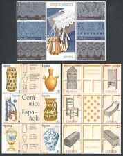 ESPAÑA - AÑO 1987/91 - 5 HOJAS BLOQUE ARTESANÍA ESPAÑOLA - MNH
