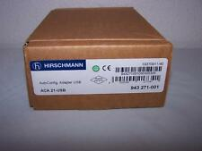 HIRSCHMANN ACA 21-USB AUTO CONFIGURATION USB ADAPTER 943-271-001 NEW IN BOX