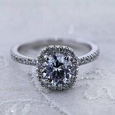1.50CT Diamond Engagement Ring White Gold Finish Size 6.5 Band Round Shape