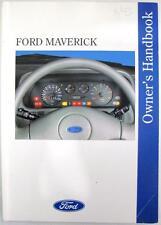 FORD Maverick - Original Car Owners Handbook - Aug 1993 - # 020846/893 - 2nd Ed.