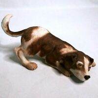 "Vintage 1987 COR ""Feisty Puppy"" Porcelain Dog Figurine Collectible Statue"