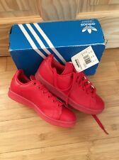 Adidas Stan Smith Adicolor Entrenadores Talla 4 Nuevo Y En Caja Rojo