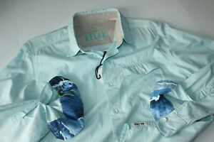 Tommy Bahama Shirt Buenos Beach Bay Front Blue TR37249 LS New Large L