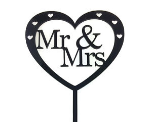 Wedding Cake Topper Heart - Mr and Mrs, MR and MR, Mrs and Mrs