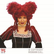 Rouge Baroque Perruque Noël Vampire Pantomime Ugly soeurs Dame Tudor Reine