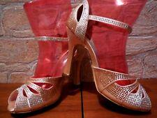 Traum DANCIN Tanzschuh Standard Latein champagner mit Strass Gr. 36