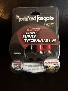 Rockford RFTS4 4 AWG Seamed Crimp Style Ring Terminal