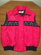 Vtg Sz 14 Womens Comfy Casuals Vest Quilted Western Aztec Puffy Rockabilly
