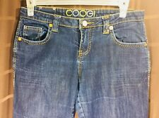 COOGI Women Jeans Blue Metal Stone Embroidered Straight leg Size 13/14 L 33 1/2