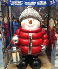 Christmas Standing Snowman 2ft (61cm) with LED Lantern Indoor Outdoor Gard