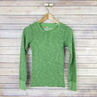 NIKE ACG Women's Thermal Long Sleeve Crew Neck Top XS Extra Small Green Floral