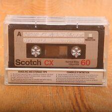 2 Scotch CX60 60 Minute Cassette Audio Tapes Normal Bias