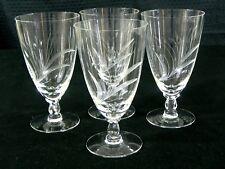 Vintage Fostoria SPRAY Etched Iced Tea Glass Set Elegant Stemware