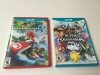 Nintendo Wii U Mario Kart 8 & Super Smash Bros. Game Lot Complete Excellent!