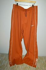 NIKE UT AUSTIN TEXAS football team mens gym wind pants 3XL Dri Fit Longhorns