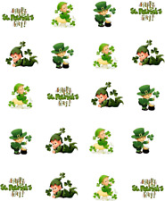 St (Patty's) Patrick's Day Baby Leprechuans Waterslide Nail Decals/Nail art