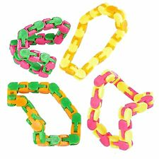 Wacky tracks fidget sensory toy for stress relief pack of 4 snap and click
