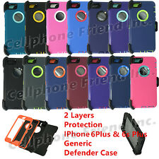Wholesale Lot IPhone 6+6s+ Heavy Duty Defender Case w/Belt Clip&Screen Protector