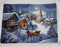 NEW completed finished cross stitch Merry Christmas home decor gifts