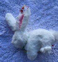 "Gund Bunny Rabbit Plush Small White Bow 8.5 X 5"" New"