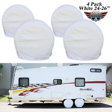"Set Of 4 24""-26"" Wheel Tire Covers For RV Trailer Camper Car Truck  1W"