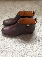 NINE WEST Women's Leather Brown Booties, Size 6
