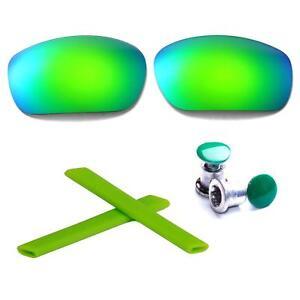 Walleva Polarized Purple Lenses + Earsocks + Bolts For Oakley Jawbone