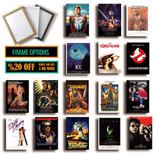 CLASSIC 80s MOVIE POSTERS, Framed Film Print Options, A3 A4 Size Poster Wall Art